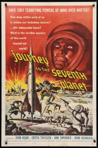 4t469 JOURNEY TO THE SEVENTH PLANET 1sh 1961 they have terrifying powers of mind over matter!