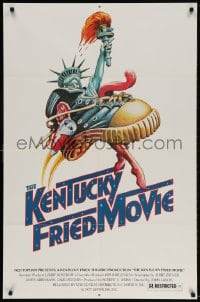 4t479 KENTUCKY FRIED MOVIE 1sh 1977 John Landis directed comedy, wacky tennis shoe art!