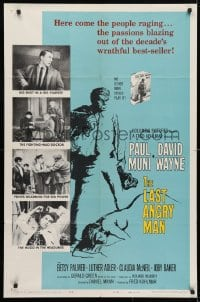 4t492 LAST ANGRY MAN 1sh 1959 Paul Muni is a dedicated doctor from the slums exploited by TV!