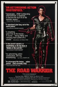 4t542 MAD MAX 2: THE ROAD WARRIOR style B 1sh 1982 George Miller, Mel Gibson returns as Mad Max!