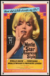 4t585 MOVIE STAR AMERICAN STYLE OR; LSD I HATE YOU 1sh 1966 life with LSD, sexy Monroe look-alike!
