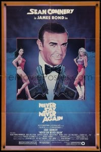 4t610 NEVER SAY NEVER AGAIN 1sh 1983 art of Sean Connery as James Bond 007 by Obrero!