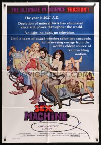 4t763 SEX MACHINE 1sh 1976 scientists harness the world's oldest reciprocating energy source!