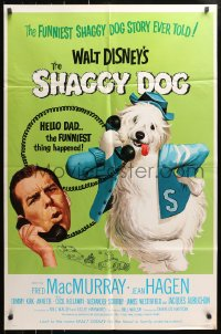4t767 SHAGGY DOG 1sh R1967 Disney, Fred MacMurray in the funniest sheep dog story ever told!