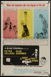 4t772 SHOT IN THE DARK 1sh 1964 Blake Edwards, Peter Sellers, sexy Elke Sommer, Pink Panther!