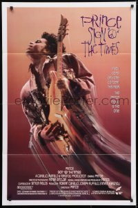 4t773 SIGN 'O' THE TIMES 1sh 1987 rock and roll concert, great image of Prince w/guitar!