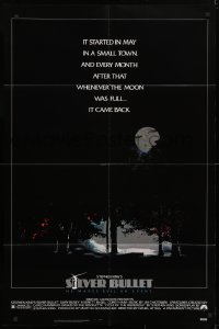 4t775 SILVER BULLET 1sh 1985 Stephen King, whenever the moon was full, it came back!