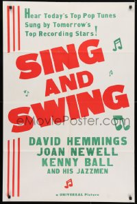 4t777 SING & SWING military 1sh R1960s love it up, laugh it up, love it up with swinging generation!