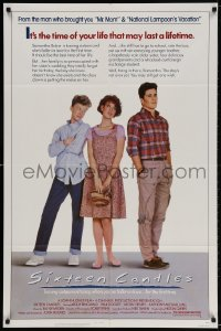 4t780 SIXTEEN CANDLES 1sh 1984 Molly Ringwald, Anthony Michael Hall, directed by John Hughes!