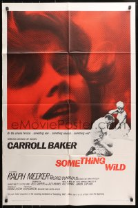 4t790 SOMETHING WILD 1sh 1962 Ralph Meeker, super close up of Carroll Baker, new & unusual!