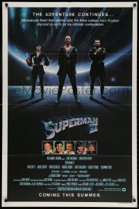 4t844 SUPERMAN II teaser 1sh 1981 Christopher Reeve, Terence Stamp, great image of villains!