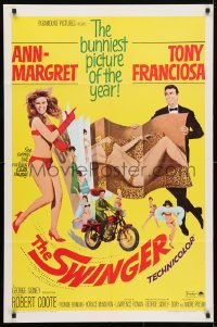 4t852 SWINGER 1sh 1966 super sexy Ann-Margret, Tony Franciosa, it swings like nothing ever swung!