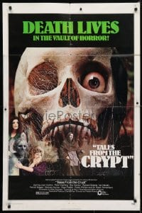 4t855 TALES FROM THE CRYPT 1sh 1972 Peter Cushing, Joan Collins, E.C. comics, cool skull image!