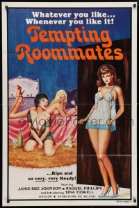 4t866 TEMPTING ROOMMATES 1sh 1976 whatever you like, whenever you like it, ripe & VERY ready!