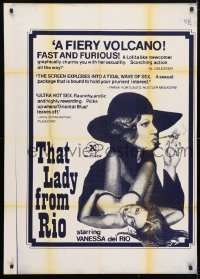 4t875 THAT LADY FROM RIO 1sh 1976 sexiest Vanessa del Rio is a fiery volcano, sexy art!