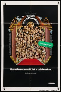 4t877 THAT'S ENTERTAINMENT advance 1sh 1974 classic MGM Hollywood scenes, it's a celebration!