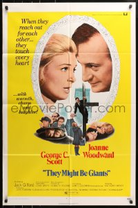 4t879 THEY MIGHT BE GIANTS 1sh 1971 George C. Scott & Joanne Woodward touch every heart!