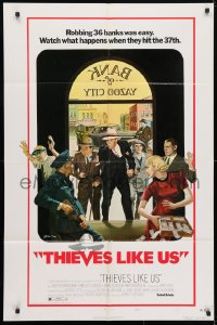 4t880 THIEVES LIKE US style B 1sh 1974 Robert Altman, Keith Carradine, Shelley Duvall