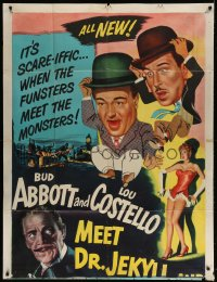 4w020 ABBOTT & COSTELLO MEET DR. JEKYLL & MR. HYDE INCOMPLETE 3sh 1953 Bud & Lou w/ Boris Karloff!