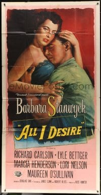 4w023 ALL I DESIRE 3sh 1953 art of sexy Barbara Stanwyck & Richard Carlson, directed by Douglas Sirk