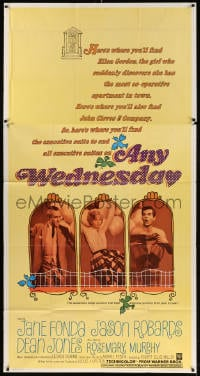 4w025 ANY WEDNESDAY 3sh 1966 portraits of sexy Jane Fonda, Jason Robards & Dean Jones!