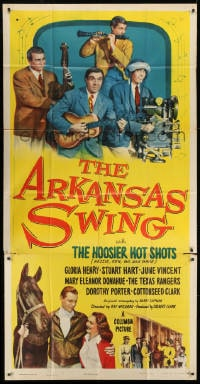 4w027 ARKANSAS SWING 3sh 1948 The Hoosier Hot Shots Hezzie, Ken, Gil & Gabe + horse racing!