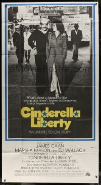 4w049 CINDERELLA LIBERTY int'l 3sh 1974 Navy sailor James Caan with hooker Marsha Mason in Seattle!