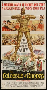 4w051 COLOSSUS OF RHODES 3sh 1961 Sergio Leone's Il colosso di Rodi, mythological Greek giant!