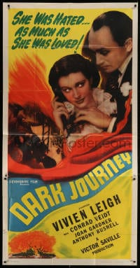 4w057 DARK JOURNEY 3sh R1947 Vivien Leigh was hated as much as she was loved by Conrad Veidt!