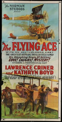 4w075 FLYING ACE 3sh 1926 cool all-black aviation, the greatest airplane thriller ever produced!