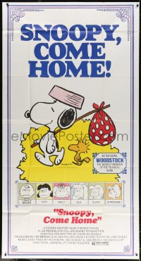 4w211 SNOOPY COME HOME 3sh 1972 Peanuts, Charlie Brown, great Schulz art of Snoopy & Woodstock!
