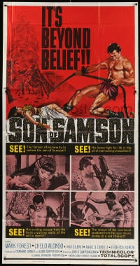 4w213 SON OF SAMSON 3sh 1962 strongman Mark Forest as Maciste, sexy Chelo Alonso, Italian!