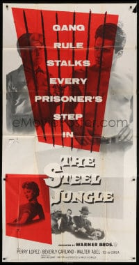 4w222 STEEL JUNGLE 3sh 1956 violence-makers, vengeance-takers & killer-crews behind bars!