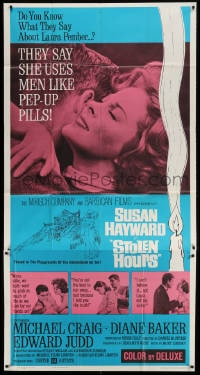 4w223 STOLEN HOURS 3sh 1963 Susan Hayward, they say she uses men like pep-up pills!