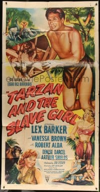 4w231 TARZAN & THE SLAVE GIRL 3sh 1950 full-length art of Lex Barker with knife + sexy ladies!