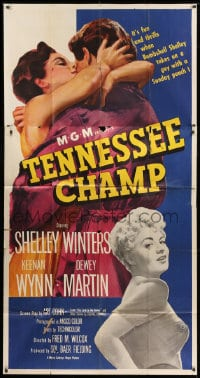 4w234 TENNESSEE CHAMP 3sh 1954 it's fun & thrills with sexy bombshell Shelley Winters, boxing!