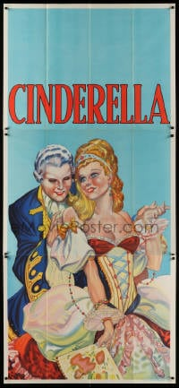 4w002 CINDERELLA stage play English 3sh 1930s beautiful art close up art with man & fan!