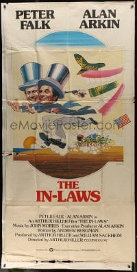 4w012 IN-LAWS English 3sh 1979 classic Peter Falk & Alan Arkin screwball comedy, Ferracci art!