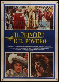 4w381 CROSSED SWORDS Italian 1p 1977 Mark Lester, The Prince & The Pauper, different images!