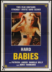 4w383 CUISSES INFERNALES Italian 1p 1984 c/u of sexy naked blonde, Hard Babies!