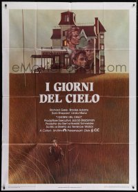 4w389 DAYS OF HEAVEN Italian 1p 1979 Richard Gere, Brooke Adams, directed by Terrence Malick!