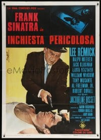 4w405 DETECTIVE Italian 1p 1968 Frank Sinatra as gritty New York City cop, different Nistri art!