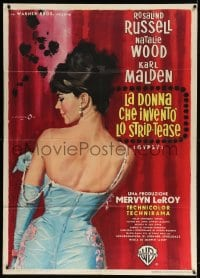 4w469 GYPSY Italian 1p 1963 different Cesselon art of sexiest Natalie Wood stripping, ultra rare!