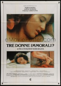 4w503 IMMORAL WOMEN Italian 1p 1979 Walerian Borowczyk's Les Heroines du mal, sexy images!