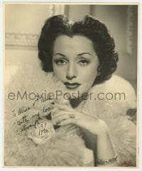 4x048 BEBE DANIELS signed deluxe 9.75x12 still 1940 glamorous close portrait by Walter Bird!