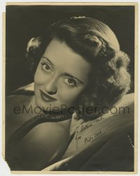 4x049 BETTE DAVIS signed deluxe 11x14 still 1950s great close portrait leaning back in chair!