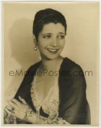 4x054 KAY FRANCIS signed deluxe 11x14 still 1930s beautiful posed smiling portrait by Elmer Fryer!