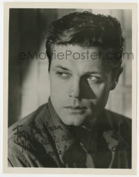 4x806 JACK LORD signed 8x10.25 REPRO still 1970s youthful head & shoulders portrait of the star!