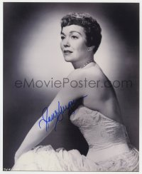 4x811 JANE WYMAN signed 8x10 REPRO still 1980s posing in backless dress from Magnificent Obsession!