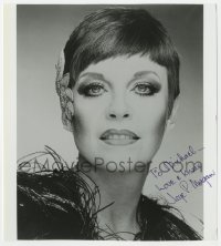4x814 JAYE P. MORGAN signed 8x9 REPRO still 1970s close portrait of the Gong Show panelist!